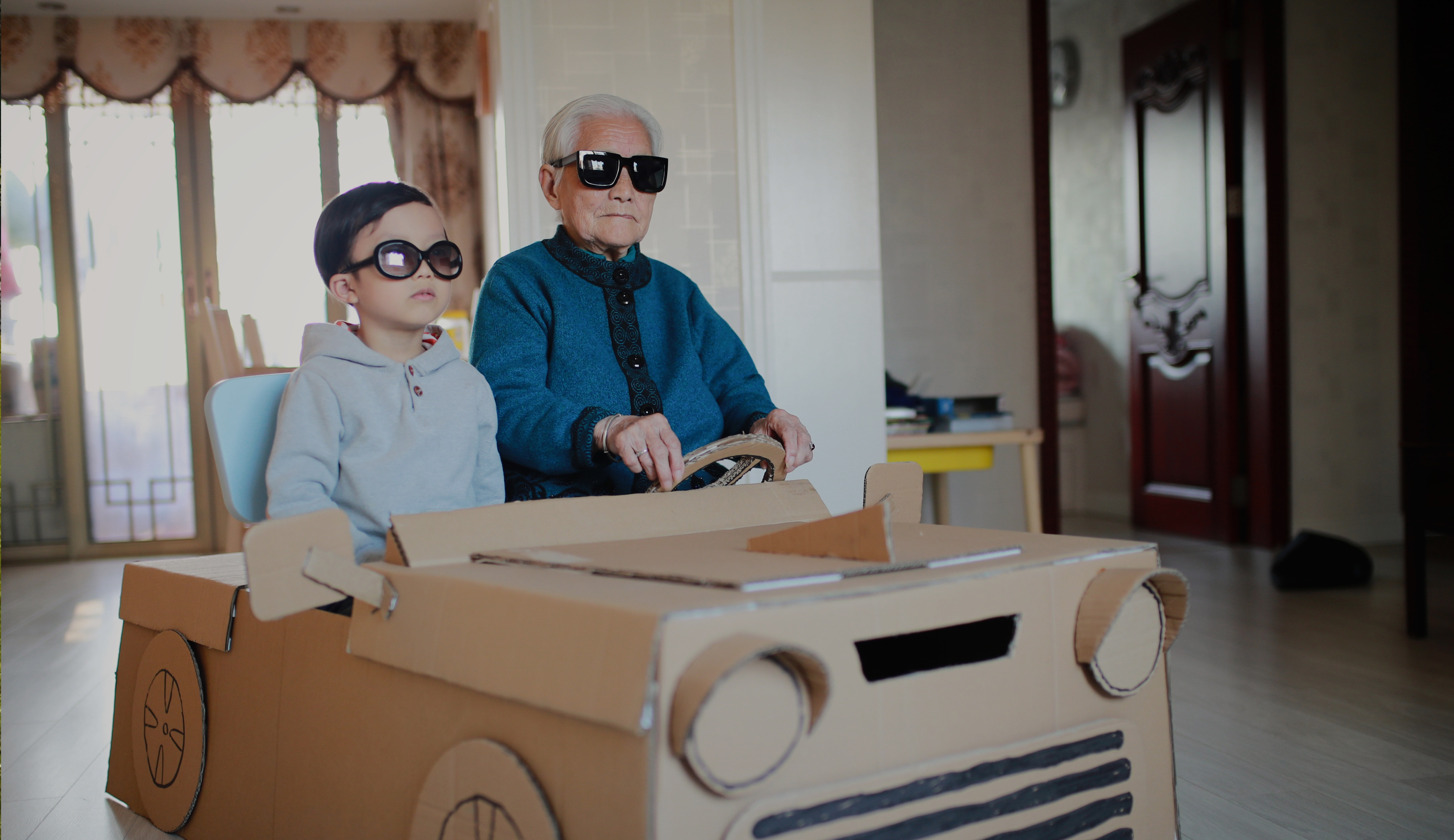 Saving-for-grandchildren-cardboard-car